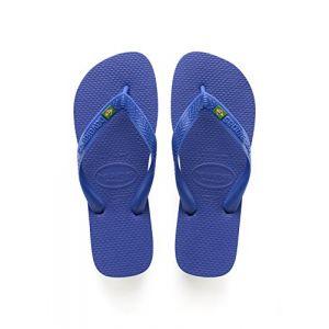 Havaianas Brasil Logo, Tongs Mixte Adulte, Bleu Marine (Marine Bleu), 35/36 EU (33/34 BR)