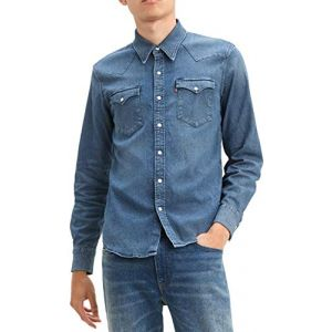 Levi's Barstow Western chemise manches longues Hommes bleu T. M