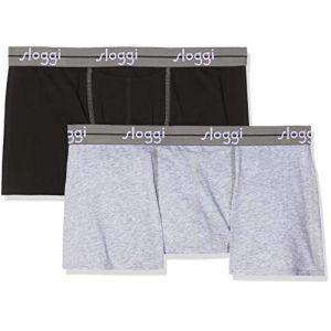 Sloggi Lot de 2 boxers Start avec ouverture Gris Chiné/Noir - Taille L;M;S;XL;2XL