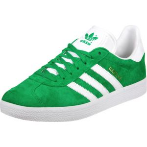 Adidas Gazelle, Sneakers Basses Mixte Adulte, Vert - (Green/White/Gold Met.),EU 45 1/3