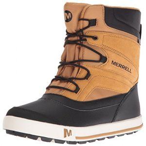 Merrell ML-b Snow Bank 2.0 Waterpoof - Chaussures de Randonnée Hautes Garçon - Marron (Wheat/Black) - 34 EU/2 UK