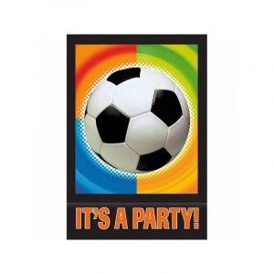 Amscan Lot de 8 cartes d'invitation et enveloppes anniversaire : Foot Party