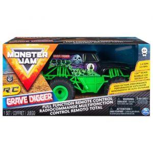 Spin Master Voiture radiocommandée 1/24 ème - Monster Jam - Grave Digger