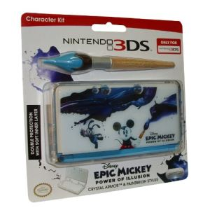 PDP Crystal case Epic Mickey + Stylus pack d'accessoires compatible 3DS