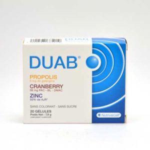 Nutrivercell Duab propolis cranberry zinc - 20 gélules