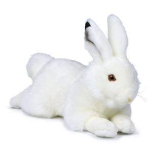 WWF Peluche Lapin des neiges couché 30 cm