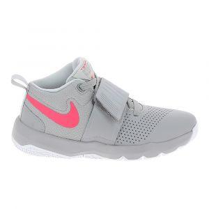 29d6756e6a3d4 Nike Chaussure multi sports team hustle jr gris rose 40