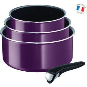 Tefal INGENIO ESSENTIAL L2019102 Violet Byzantium - Set de 4 Pièces - Tous feux sauf induction