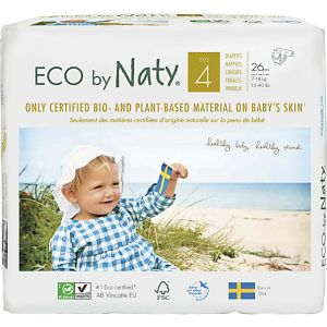 Eco by Naty 26 Couches écologiques - Taille 4, 7-18kg