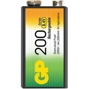GP Blister 1 pile rechargeable 9V (6LR61)