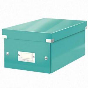 Leitz 6042-00-51 - Boîte de rangement Click & Store, format DVD, en PP, coloris menthe glacée