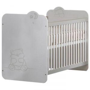 Demeyere Teddy - Lit bébé à barreaux 3 hauteurs couchage 60 x 120 cm