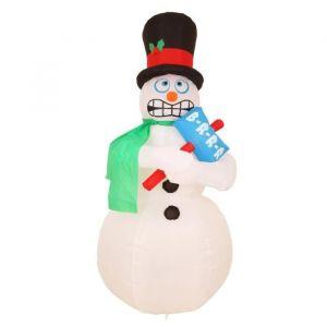 Bonhomme de neige gonflable et grelotant