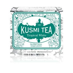 Kusmi tea Tropical white - etui 20 sachets mousseline - 36 g / 1.26 oz.