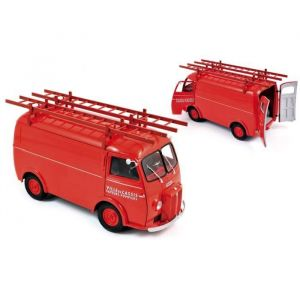 """Norev Peugeot D4A 1955 with ladders - """"Pompiers"""" - 1:18"""