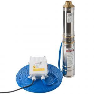 Arebos Pompe de puits profond (4 pouces, 370 W, 4000 l/h)