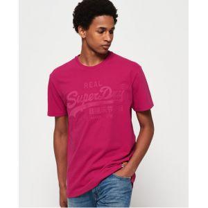 Superdry T-shirt ajusté avec logo appliqué Vintage - Couleur Rose - Taille XXL