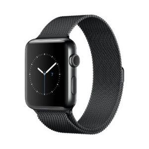 Apple Watch 42 mm séries 2 - Montre connectée boîtier acier Bracelet Milanais