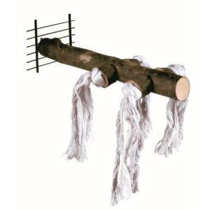 Trixie Perchoir naturel avec corde de jeu (25 cm)