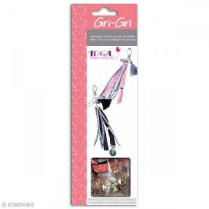 Toga Kit pour 2 gri-gris - argent/rose/gris