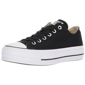 Converse Chuck Taylor CTAS Lift Ox Canvas, Chaussures de Fitness Femme, Noir (Black/Garnet/White 001), 37 EU