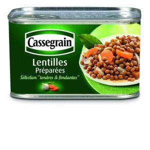 Cassegrain Lentilles, cuisinées aux oignons et carottes