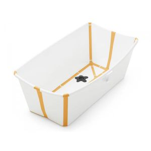 Stokke Baignoire pliante flexi bath blanc-jaune