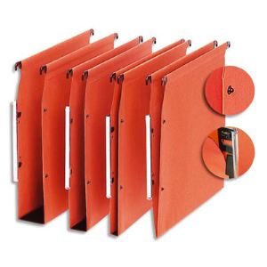 5 étoiles ETL-915331 - Boîte de 25 dossiers suspendus Organex pour armoire kraft (fond 30 mm)