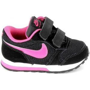 Nike MD Runner 2 (TDV), Chaussures pour Nouveau-Né Fille, Noir (Black/Vivid Pink-White 006), 18.5 EU