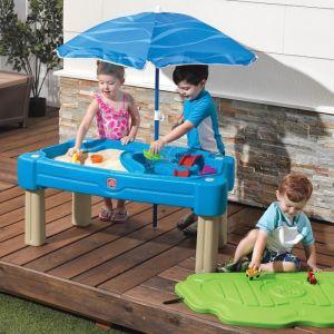 Step 2 Cascade - Table sable et eau avec parasol