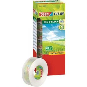 Tesa Film Eco&Clear 8 rouleaux 33m x 19mm