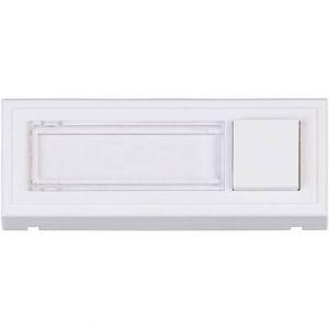 Heidemann Plaque de sonnette 1 prise 70511 blanc 24 V/1 A