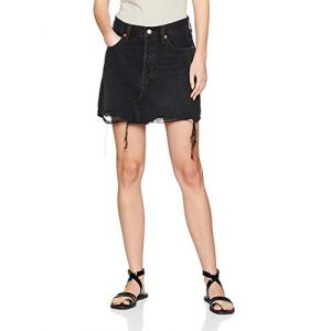 Image de Levi's Deconstructed Skirt, Jupe Femme, Noir (Ill Fated 0027), Taille Unique (Taille Fabricant: 30)