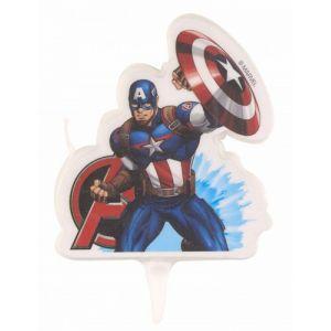 Bougie anniversaire Captain America