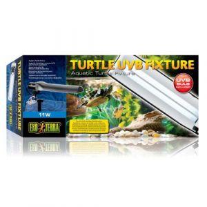 Exo terra Turtle UVB Fixture éclairage 11 W - Système d'éclairage complet pour terrarium aquatique