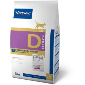 Virbac Veterinary HPM Dermatology Support Cat Contenance : 3 kg