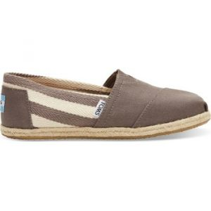 Toms Canvas Classic Stripe Alpargata, Chaussons Bas Femme, Gris (Dark Grey Stripe University), 36.5 EU