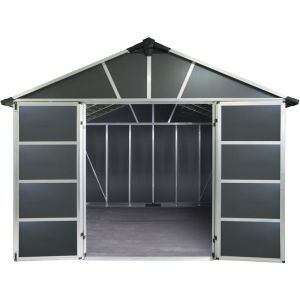 Palram Abri de jardin YUKON 11X9 gris anthracite - 7,9m² avec plancher
