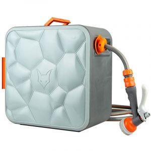 Fuxtec Dévidoir Enrouleur Automatique 30 m FX-CU30 Connexion ½ Pouce – Enrouleur de Tuyau avec Montage Mural