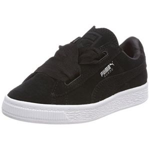 Puma Suede Heart Valentine PS, Sneakers Basses Fille, Noir Black Black, 30 EU