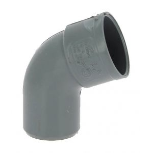 Adequa Coude PVC mâle-femelle 67°30 O40