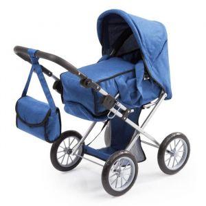 Bayer Design BAYER Poussette Landau pour poupée City Star bleu réglable avec un sac à bandoulière