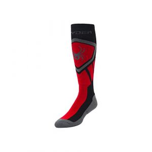 Spyder Dare Chaussettes Homme, Black/Red/Polar, FR : M (Taille Fabricant : M)