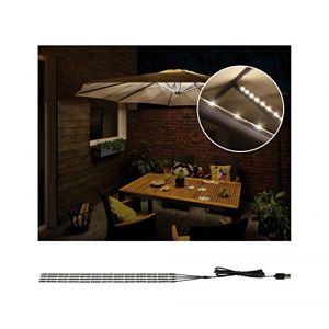 Paulmann Eclairage de parasol sans fil set de 4 1.8 W blanc chaud Parasol 94208 noir