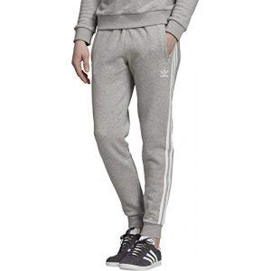 Adidas 3-Stripes pantalon de jogging Hommes gris chiné T. XL