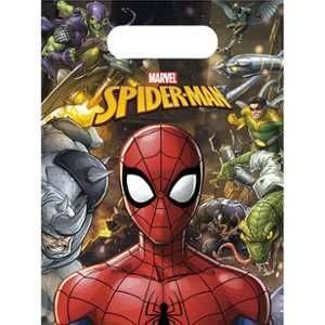 6 Sacs à cadeaux Spiderman 18 x 13 cm