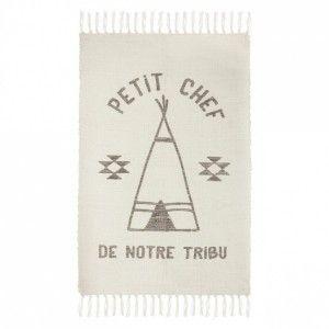 Tapis Déco à Franges Tribu 60x90cm Beige