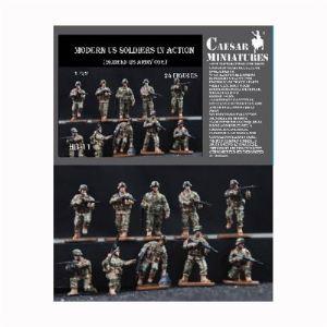 Caesar Miniatures Figurines militaires : Soldats US Army époque moderne en action - Echelle 1:72