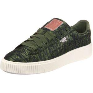 Puma Basket Platform VR, Sneakers Basses Femme, Vert (Olive Night-Olive Night), 37 EU