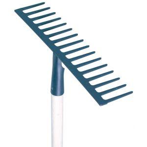 Perrin 5331160 - Rateau soudé dents droites 16 cm avec manche 165 cm